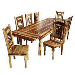 Dallas Ranch Classic 9pc Dining Table & Chair Set with Extension