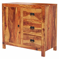 Appalachian Rustic 3-Drawer Kitchen Buffet Storage Cabinet