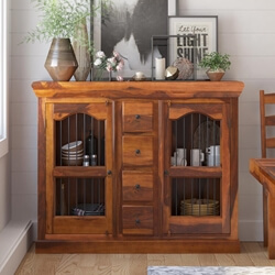 Handmade Solid Wood Dining Room Credenza Cabinet Buffet Cupboard