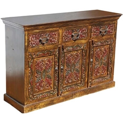 Canterbury Solid Wood Hand Carved Sideboard Buffet Cabinet