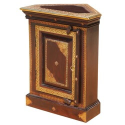 Heritage Contemporary Small Triangular Corner Cabinet
