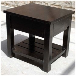 Kansas City Espresso End Table Night Stand.