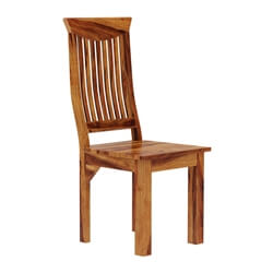 Solid Wood Dallas Ranch Contemporary Wave Back Ergonomic Dining Chair