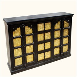 Golden Palace Gates Espresso Credenza Buffet