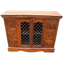 Philadelphia Classic Honey Oak Dining Room Buffet Credenza Cabinet