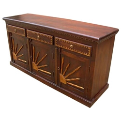 Santa Fe Brass Sunrise Dining Room Sideboard Buffet Storage Cabinet