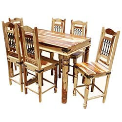 Dallas Counter Height 7pc Dining Room Table & Chair Set