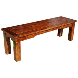 Appalachian Rustic Solid Rosewood Dining Bench Furniture