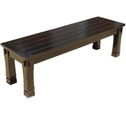 Transitional Solid Wood Dining Bench