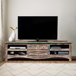 Appalachian Rustic Reclaimed Wood 3 Drawer Media Center