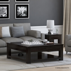 Mission Hardwood Square Espresso Coffee Table