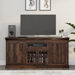 Santa Fe Rustic Solid Wood TV Console Cabinet