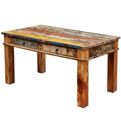 Unique Reclaimed Wood 6 Seater Rustic Dining Room Table Furniture