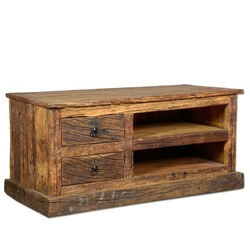 Rustic Railroad Reclaimed Wood Media Center Console