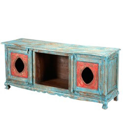 Hand Painted Oklahoma Farmhouse TV Media Stand Console