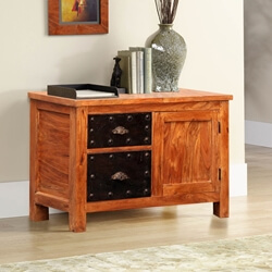 Mission Iron & Reclaimed Wood Storage Buffet Cabinet Furniture