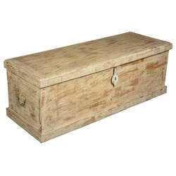 Palisade Rustic Reclaimed Wood Storage Trunk Chest