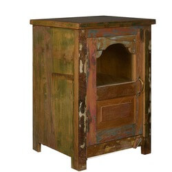 Window Box Reclaimed Wood Night Stand End Table Cabinet