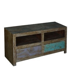 "Midnight Double Feature 48"" Reclaimed Wood TV Stand"