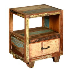 Appalachian Open Back Night Stand End Table Reclaimed Wood Furniture