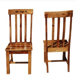 Oklahoma Farmhouse Solid Wood School Back Chairs Set of 2