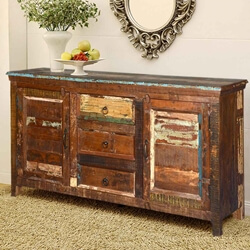 Reclaimed Wood Furniture Appalachian Buffet Storage Cabinet