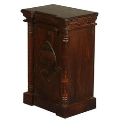 Gothic Lemon Reclaimed Wood Night Stand End Table Cabinet