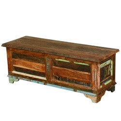 New Memoires Reclaimed Wood Standing Coffee Table Chest