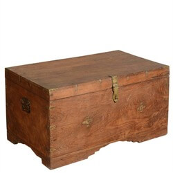 Starc Rustic Reclaimed Wood Steamer Storage Chest Pirate Trunk