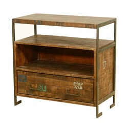 Drakensberg Reclaimed Wood & Iron Rustic Media Console TV Stand