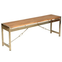 Modern Industrial Fusion Solid Wood & Iron Rustic Dining Bench