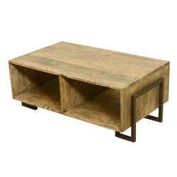 Industrial Rustic Solid Wood & Iron Low Height TV Stand Media Console