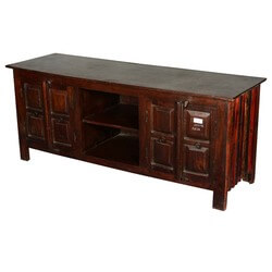 Lincoln Traditional Reclaimed Wood TV Table Media Cabinet