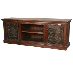 Gothic Stars Mango & Reclaimed Wood Media Cabinet TV Console