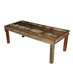 "Appalachian Distressed Reclaimed Wood 96"" Rustic Dining Table"