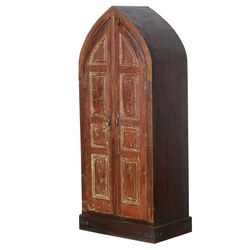 Rustic Cathedral Doors Mango & Reclaimed Wood Wardrobe Armoire