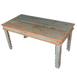 Country Farmhouse Reclaimed Wood Dinette Table w Scalloped Legs