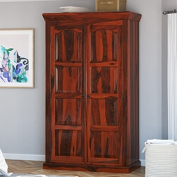 Lincoln Study Reclaimed Wood Double Door Armoire Storage Cabinet