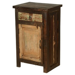 Appalachian Distressed Reclaimed Wood Nightstand End Table Cabinet