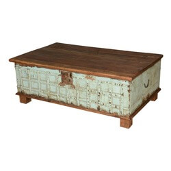 Neptune's Treasure Reclaimed Wood Standing Coffee Table Chest