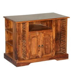 Rustic Solid Wood Texas Media Console TV Stand