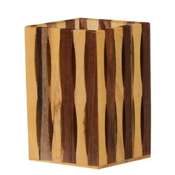 Forest Striped Solid Mango Wood Handmade Pen/Pencil Holder