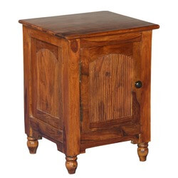 Rustic Empire Solid Indian Rosewood Nightstand End Table Cabinet