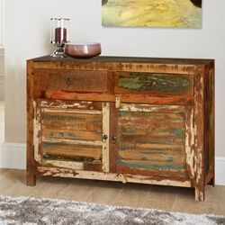 Frontier Rustic Reclaimed Wood Buffet Sideboard Cabinet