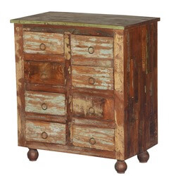 Frontier Rustic Reclaimed Wood 8-Drawer Chest