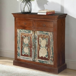 Shaker Eco-Fusion Mango & Reclaimed Wood Hall Console Cabinet