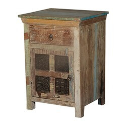 Rustic Wooden Windows Reclaimed Wood Nightstand End Table Cabinet