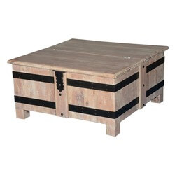 Frosted Gothic Mango Wood Standing Square Accent Table Chest