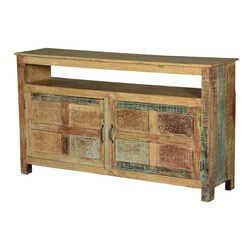 Rustic Frontier Reclaimed Wood Freestanding Console Cabinet