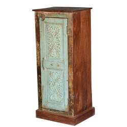 Rustic French Provincial Reclaimed Wood Freestanding Cabinet